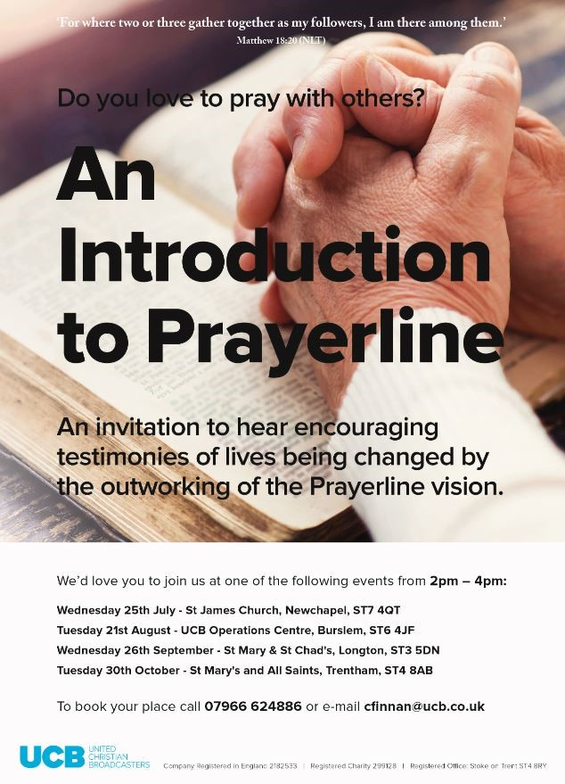 UCB prayer line (August 2018)