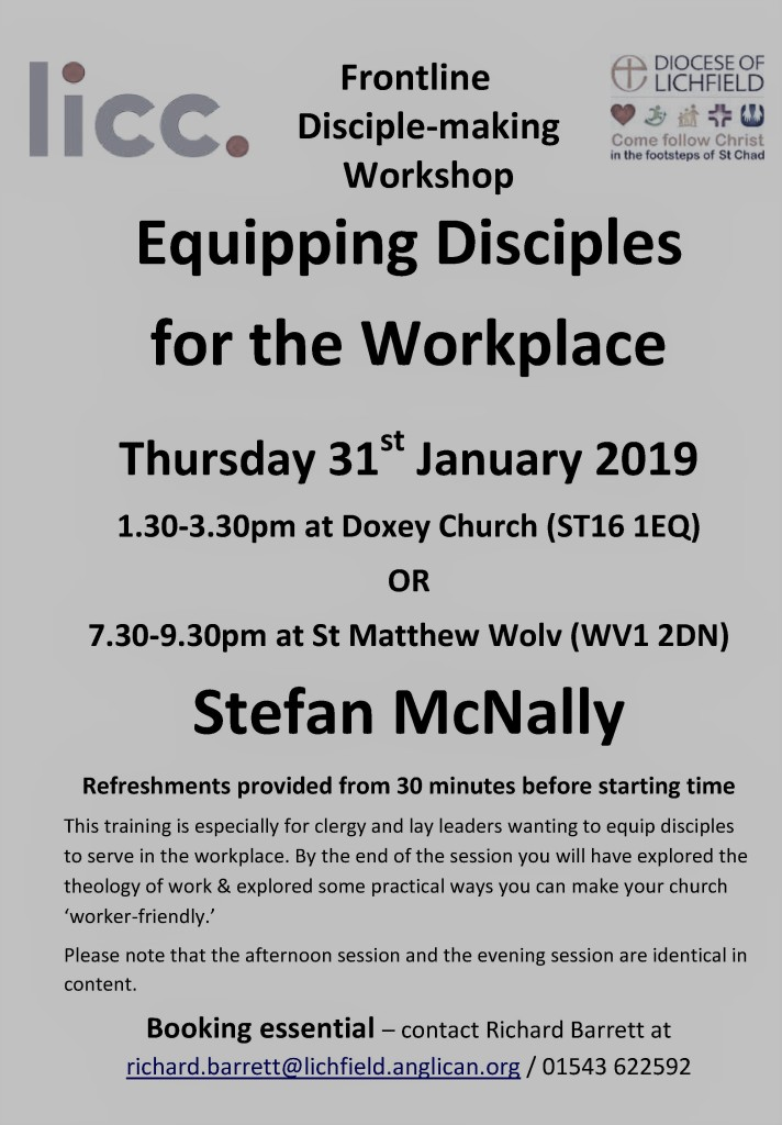 LICC Equipping Disciples for the Workplace Poster (Jan 2019)