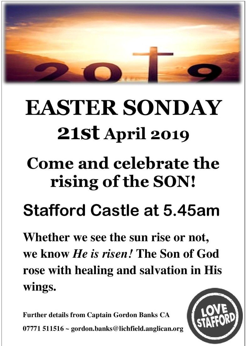 EASTER Stafford SONDAY 21st April