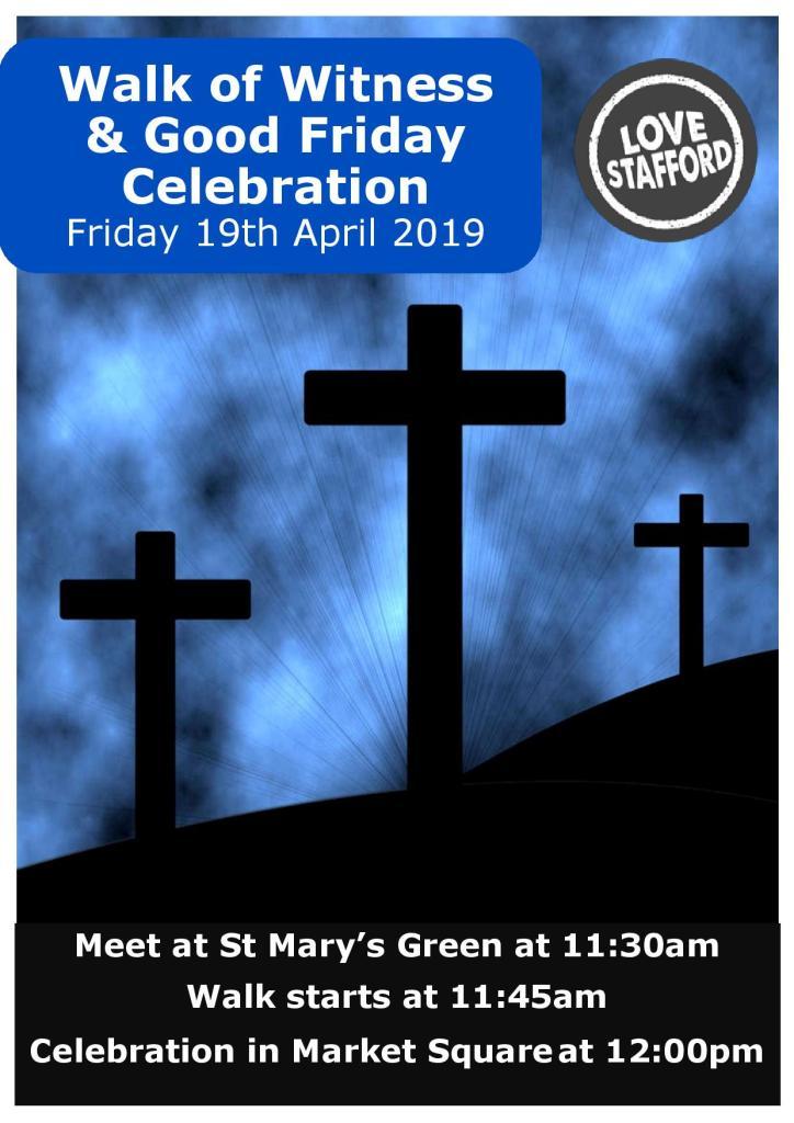 Stafford churches Walk of Witness (9 April 2019)