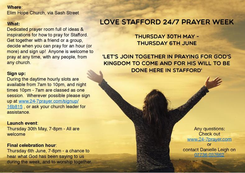Week of prayer in Stafford (June 2019)