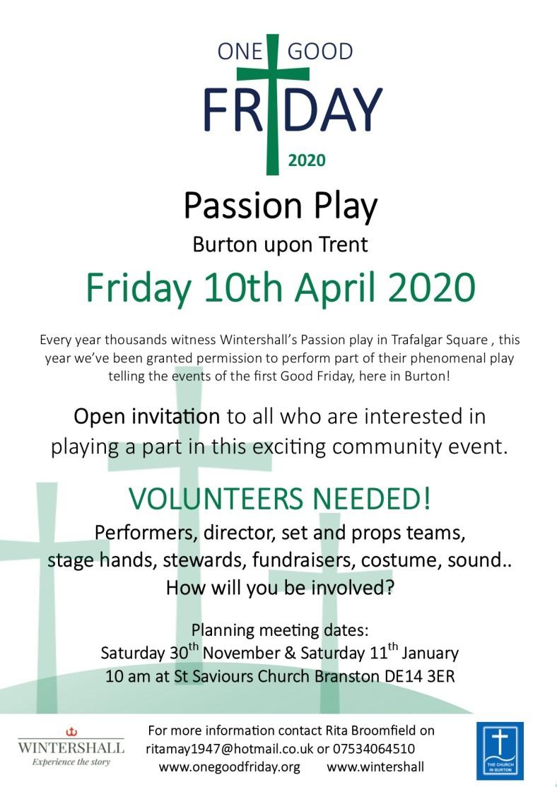 Burton upon Trent One Good Friday poster (April 2020)