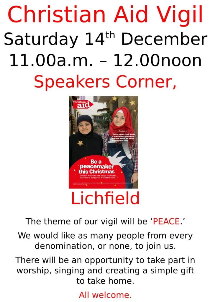 Christian Aid Vigil (14 December 2019)
