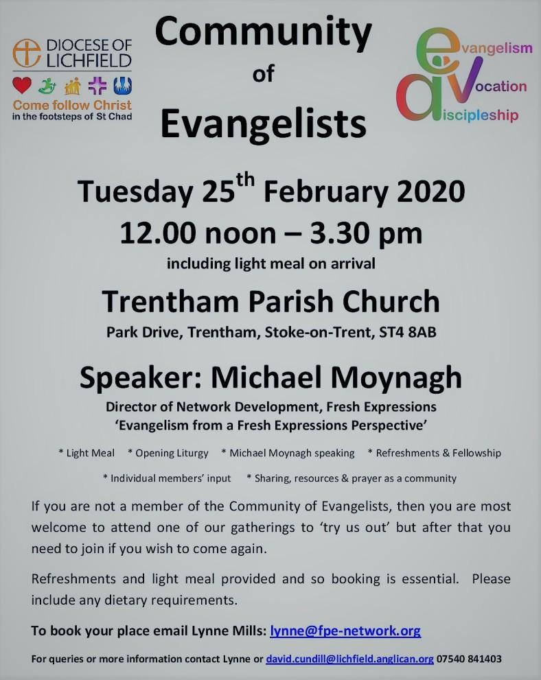 Community of Evangelists (Trentham, 25 Feb 2020)