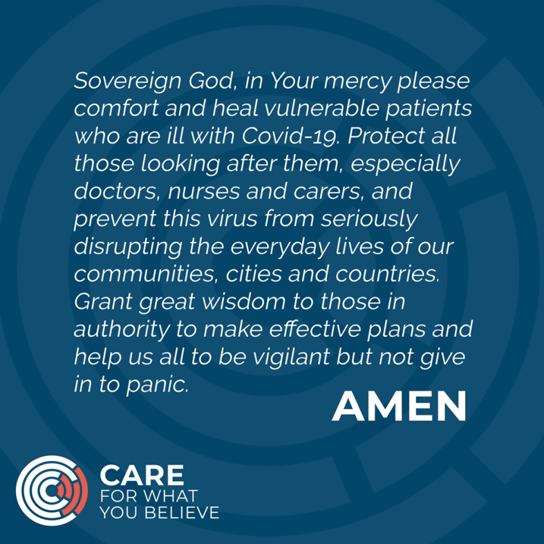 care corona virus prayer