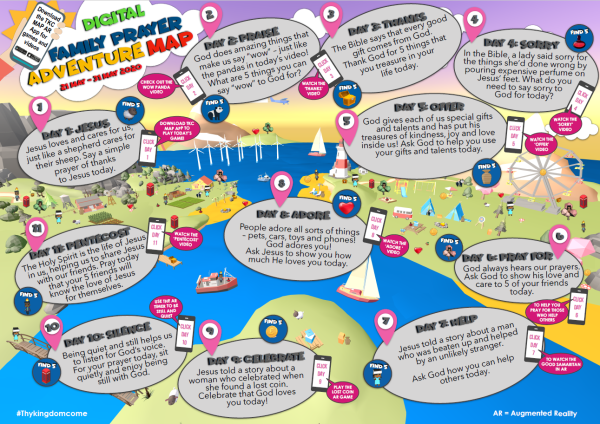 TKC Digital Family Prayer Adventure Map 2020 A4